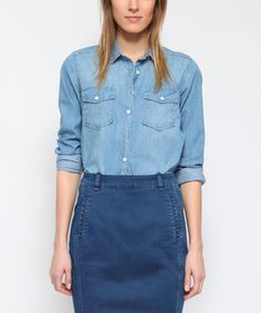 Blue Chambray Button-Up