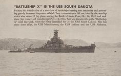 Battleship X is the USS South Dakota. My mom remembers reading about Battleship X during the war. My dad served on the USS South Dakota. Army Information, Uss Oklahoma, Us Battleships, Go Navy, Capital Ship, Us Navy Ships, P51 Mustang, Military Diorama, New Class