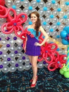 "Entered in a competition at the World Balloon Convention 2012, this form-fitting balloon dress was embellished with handmade balloon ""roses."" Description from pinterest.com. I searched for this on bing.com/images"