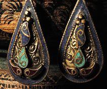 Brinco de prata com pedars| Coleção Joias da india | Kaya