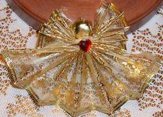 Fan folded wire ribbon angels 6