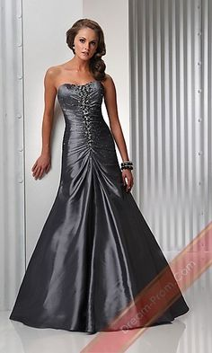 Strapless Dress By Flirt P4425,Long Silver Prom Dress,Sexy Evening Gowns
