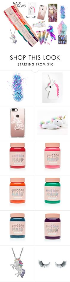 """""""UNICORN HAIR"""" by lavenderlily15 ❤ liked on Polyvore featuring beauty, In Your Dreams, Rare London, Casetify, Smoko, Lime Crime, Artistique, Unicorn Lashes, squad and gucci"""