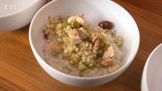 Potato Salad, Oatmeal, Potatoes, Breakfast, Ethnic Recipes, Food, The Oatmeal, Morning Coffee, Rolled Oats