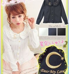 Japanese-Sweet-Lolita-Chiffon-Shirt-Embroidery-Kawaii-Women-Blouse-Tops-3-Colors