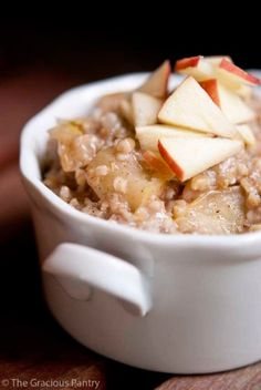 Clean Eating Apple Pie Oatmeal *use recipe for experiment w/o honey add protein powder.