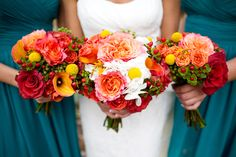 Love the teal and coral!
