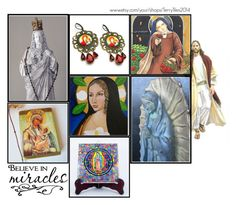 """Religious Art on Etsy by TerryTiles2014 - Volume 34"" by terrytiles2014 ❤ liked on Polyvore featuring interior, interiors, interior design, home, home decor and interior decorating"
