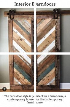 New Interior Doors Indoor Barn Doors, Wood Interiors, Interior Doors, Solid Wood, November, Furniture, Home Decor, November Born, Decoration Home