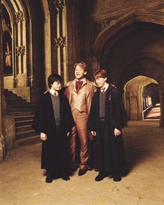 Daniel Radcliffe, Sir Kenneth Branagh, and Rupert Grint for Entertainment Weekly 2002 (x)