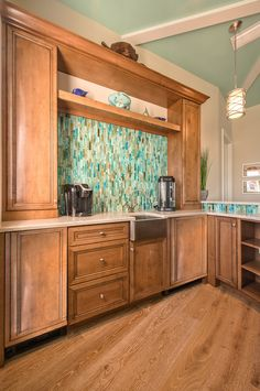 sea-inspired backsplash | Calusa Construction