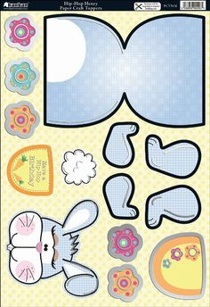 Amazon.com: Kanban Crafts - Wobblers Collection - Die Cut Punchouts and Rocker Kit - Hip-Hop Henry the Rabbit: Arts, Crafts & Sewing