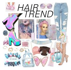 """""""HAIR TREND"""" by anabelisstyle ❤ liked on Polyvore featuring beauty, Guerlain, Y.R.U., Topshop, GUESS, Missguided, Dolce&Gabbana, Invisibobble, Charlotte Russe and Luna Skye"""