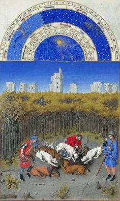 December  Les très Riches heures [1410-16] Duc de Berry Chateau de Chantilly Musée Condé frères Limbourg