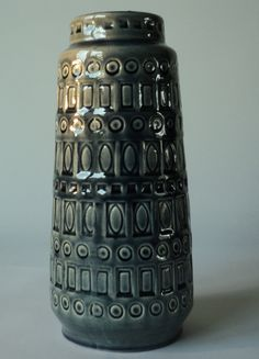 Scheurich ceramic vase Inka by Veryodd on Etsy, $45.00