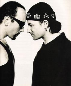 U2- The Edge and Bono, Achtung Baby and Zoo era