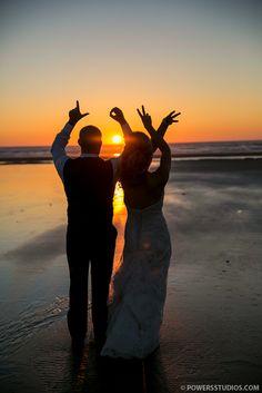Powers Studios - Portland, Oregon Wedding Photography Blog | Powers Photography Studios- professional wedding photography in Portland, Oregon beach wedding sunset