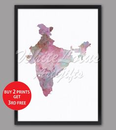 India Map Print Pastel Pink Watercolor Map Pastel Wall Art India Art Print Pastel Home Decor Travel Art Map Pink Art Living Room Wall Decor Map Wall Art, Map Art, Pink Art, Pastel Pink, Pastel Home Decor, Pastel Walls, Water Color World Map, India Map, Pastel House
