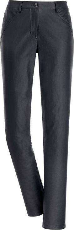 Création L Hose in beschichteter Qualität ab 39,99€. Trendige Damenhose mit Zierstepp, Viskose, Polyamid, Elasthan, Dekorative Nieten, Gürtelschlaufen bei OTTO