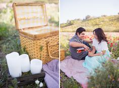 cute baking and picnic engagement photoshoot by kelsea holder photography