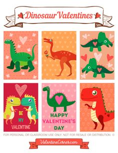 Free Printable Dinosaur Valentine Cards. Download The Valentines In PDF  Format At Http:/
