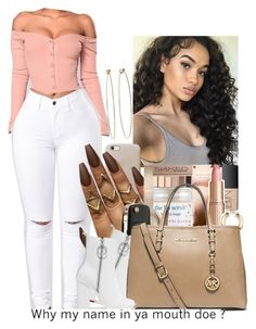 """•••"" by babygirl2018 ❤ liked on Polyvore featuring Dean Harris, Off-White and MICHAEL Michael Kors"