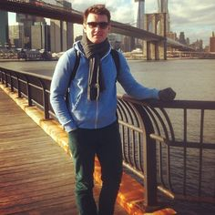 Emmet Cahill of Celtic Thunder enjoying the sights in Brooklyn!!