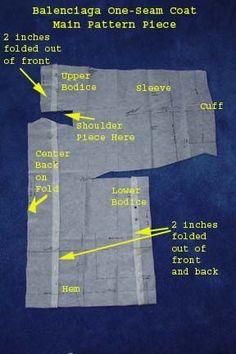 Image result for Balenciaga one seam coat