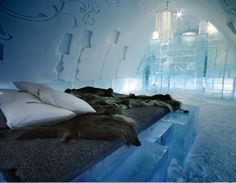 ICEHOTEL - Royal Deluxe Suite Hotel made of ice...