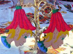 Handpainted Fairie Earings by InspriationWorkshop on Etsy, $12.00