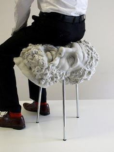 This is very funny. Why did they make it a stool? Soft Hercules is a stool cast from foam rubber, created by FAT (Fashion Architecture Taste) design studio Objet Wtf, Architect Fashion, Fashion Architecture, Architecture Design, Chair Design, Furniture Design, Weird Furniture, Modular Furniture, Unique Furniture