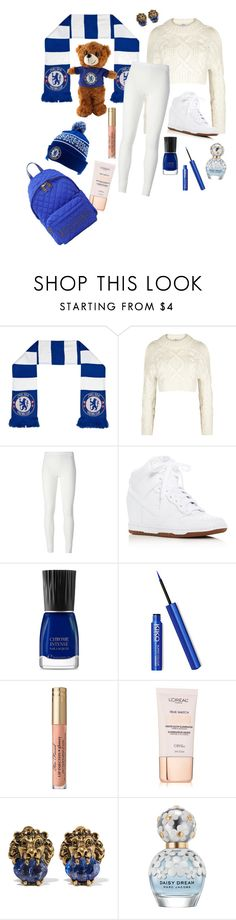 """Chelsea Soccer Match"" by bambibabysweetheart ❤ liked on Polyvore featuring DKNY, Rick Owens Lilies, NIKE, L'Oréal Paris, Gucci, Marc Jacobs and Moschino"