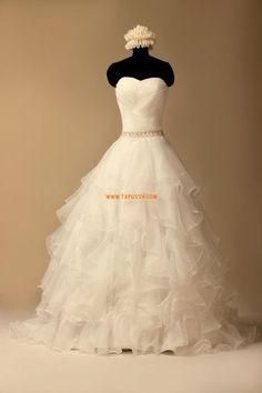 Robe de mariée princesse organza avec bustier