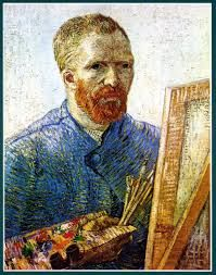 self portrait in studio - Vincent van Gogh, Self-Portrait in Front of the Easel