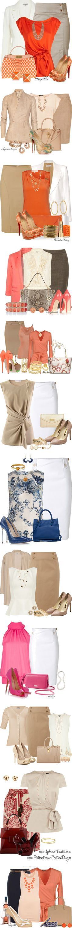 """Outfit ideas for a spring, work appropriate look """"Office… Work Fashion, Spring Fashion, Autumn Fashion, Fashion Ideas, Ootd Spring, Office Fashion, Skirt Fashion, Spring Summer, Fashion Trends"""