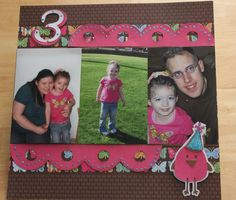 Anyce's 3rd Birthday Scrapbook Layout