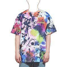 물감 타이다이 USA핏 반팔티셔츠 - 캔버스티 - 단독상품 Tie Dye, Blouse, Tops, Women, Fashion, Moda, Fashion Styles, Blouses, Tye Dye