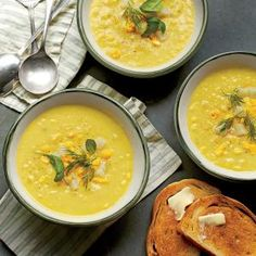 Summer Corn-and-Golden Potato Chowder |  MyRecipes.com This brothy, aromatic chowder is light enough for summer. Simmering the scraped corn cobs directly in the soup concentrates the corn flavor, making the most of the season's sweet bounty.