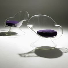 b22-design:  Erwin and Estelle Laverne - translucent 'Daffodil' Chairs for Laverne - 1960