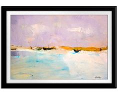 Abstract Seascape Original Oil Painting Storm ocean by CCreationss, $200.00