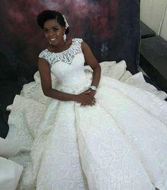 Loving this real Cinderella bride look! Wedding Bridesmaid Dresses, Bridal Dresses, Wedding Outfits, Gown Wedding, Plus Size Wedding Gowns, Wedding Looks, Dream Wedding, Nigerian Weddings, Bride Look