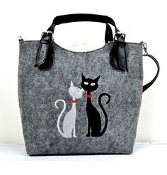 Kabelka Excent - Černá A Bílá Kočka cae32e5c865