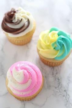 Flamingo Cupcakes, Panda Cupcakes, Summer Cupcakes, Swirl Cupcakes, Fun Cupcakes, Cupcake Cakes, Wedding Cupcakes, Amazing Cupcakes, Decorated Cupcakes