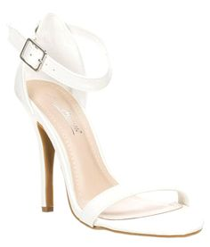Millions of Shoes - Jessica Strappy White High Heel Sandal , $39.99 (http://www.millionsofshoes.com/jessica-strappy-white-high-heel-sandal/)