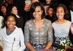 Mrs. Obama & her lovely girls