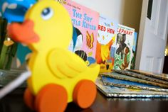 Inspire Me Grey: Little Golden Books Baby Shower in Yellow and Blue