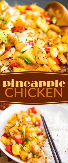 Quick and easy to make, good for you and better than take out. There's absolutely nothing not to like about this Pineapple Chicken!