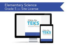 Click-On TEKS SITE LICENSE: Grade 5 Science (downloadable PDFs)