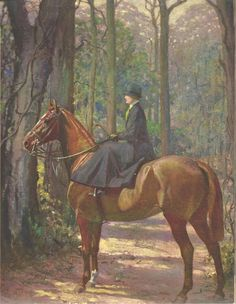 Mrs. Francis Garvan on her hunter Alert George Ford Morris Artist