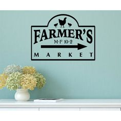 country kitchen decal | Farmer's Market Vintage Country Kitchen Wall Decal by Enchantingly ...